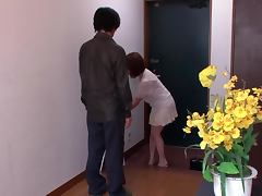 Beautiful Housewife Sana Anju Fucked in Kitchen and on Couch