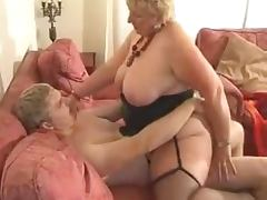BBW sucks a cock and gets her snatch pounded every which way tube porn video
