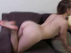 Foot fetish hottie gets a cumshot