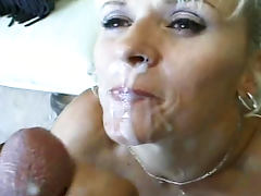 Bus, Blonde, Bus, Facial, Mom, Pussy