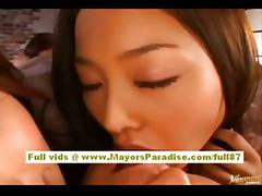 Akiho Yoshizawa naughty Chinese model has a lesbian foursome tube porn video