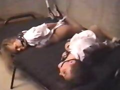 Two Flight Attendants Are Hogtied in the Basement tube porn video