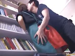Kinky Japanese Teen Gets Fucked in the Library with Swimsuit On