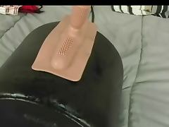 Soaking the bed Sybian