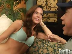 Naughty mature babe gets fucked and creampied