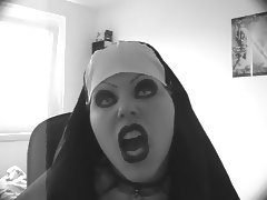 Sexy evil nun lipsync porn tube video