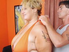 Blonde BBW Femdom tube porn video
