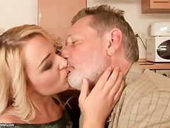 Daddy, Babe, Blonde, Blowjob, Couple, Cowgirl