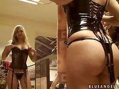Cute Blonde Pornstar Blue Angel Goes Lingerie Shopping