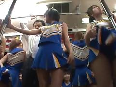 Bus, Bus, Cheerleader, Fingering, Reality, Miniskirt