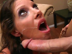 Angel is getting horny dick of Johnny Sins in her mouth