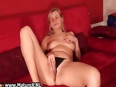 Dirty old bitch gets all wet finger part5