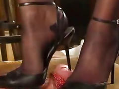Slingback Milking bdsm bondage slave femdom domination
