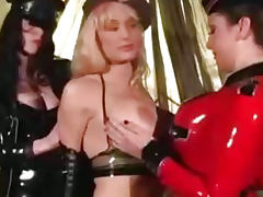 Three Lesbians In Latex bdsm bondage slave femdom domination porn tube video