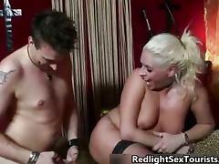 Nasty blonde slut goes crazy