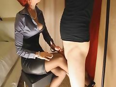 Corset, Corset, Femdom, Heels, Masturbation, Nylon