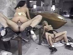 Greta Milos and Zenza Raggi having threesome FFM sex