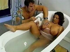 Bathroom, Bathroom, Brunette, Naughty, Retro, Mature Amateur