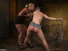 Torture in Kathia's basement till her ass turns red tube porn video
