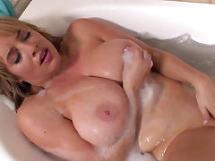 Bathroom, Bath, Bathroom, Big Tits, Blonde, Masturbation