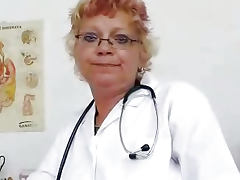 American, American, Close Up, Granny, Masturbation, Uniform