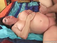 Fat slut Etheleen sucks a cock and takes it in her meaty pussy