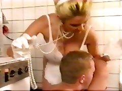 Lynn Lemay gives titfuck and blowjob