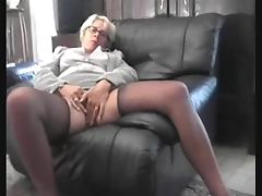 Mature French granny pees and stuffs her old pussy tube porn video