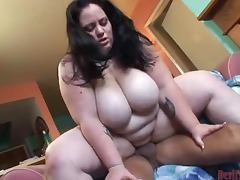 Fat Girl Rides Huge Cock