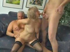 Threesome, Mature, Slut, Sperm, Threesome, 3some