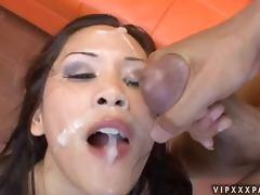 Divine Asian honey Jessica Bangkok sucks two black cocks