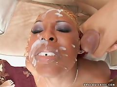 Nasty ebony girl Sensious is eager to suck all of them