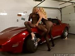 Candy Strong and Sophie Moone strip and play lesbian games