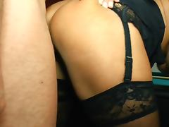 Curvy with stockings porn tube video