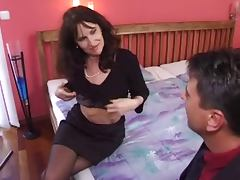 mature milf in stockings gets a good fuck porn tube video