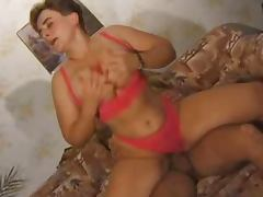 Sexy and busty mature lady takes him for a hot ride tube porn video