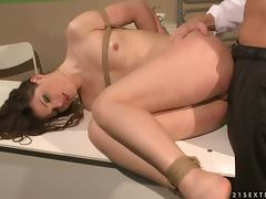 A Very Different Gyno Check Up For A Brunette Cutie