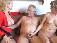 Old, Mature, Old, Threesome, 3some, Lady
