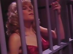 Horny blonde girl getting fucked right in the prison cell