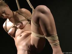 Lovely blondie Chicky Clarissa gets punished hard