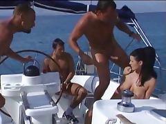 Threesome tube porn video