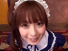 Lovely Japanese Maid Sucks A Dick While Looking Super Cute