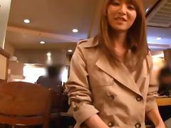 Sexy Exhibitionist Asian Babe Fucked In Restaurant's Kitchen