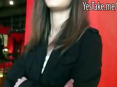 Amateur skank gets payed then banged and jizzed in public
