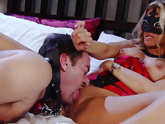 Chanel Preston and Jessica Drake in the bedroom
