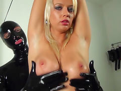 Dressed in latex Linda Blond is fucking blonde Tanja