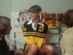 Marilyn Chambers As A Cheerleader Takes On 2 Guys tube porn video