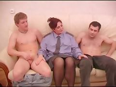 Mature play police rol with two guys tube porn video