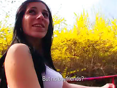 Sexy outdoor fuck with horny as hell Aneta