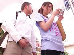 Pretty Little Asian Thing Is Forced To Fuck In A Store